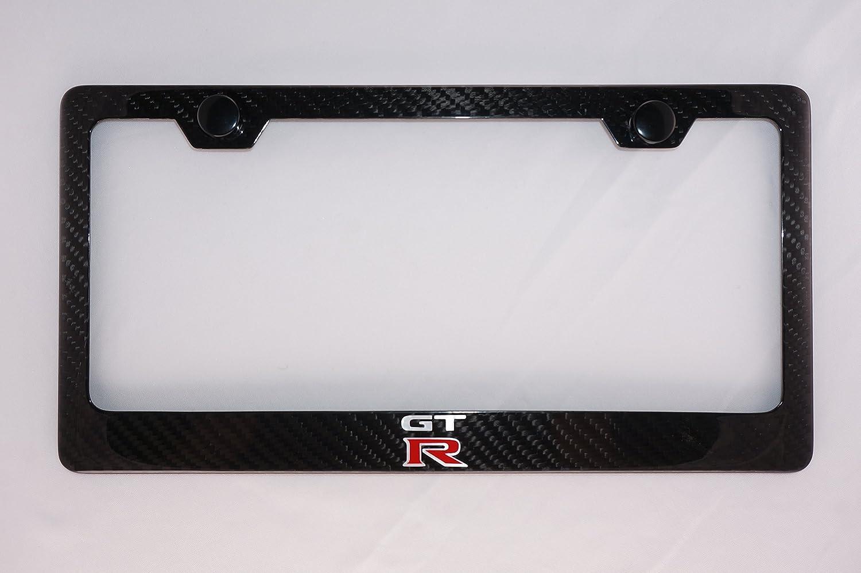 Nissan GTR Carbon Fiber License Plate Frame With Cap CPR