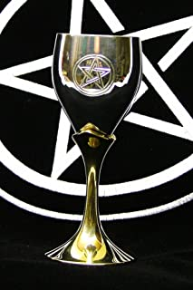 """product image for Fullmoon Silver-Plated Pagan~Pentacle Goblet 6"""""""