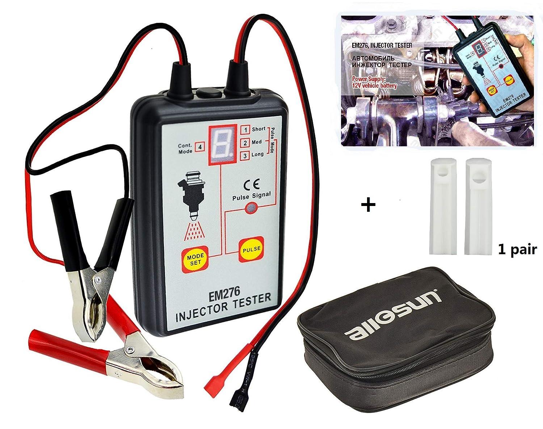 ALLOSUN Fuel Injector Tester & Adapter DIY Cleaning Tool Kit Set (Fuel  Injector Tester + Adapter)