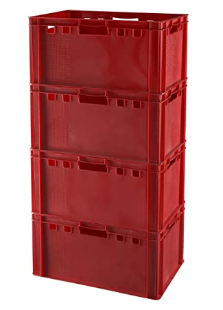 5 x Eurofleischkiste E2 NEU stapelbar Lagerkiste Metzgerkiste Kiste Box Behälter