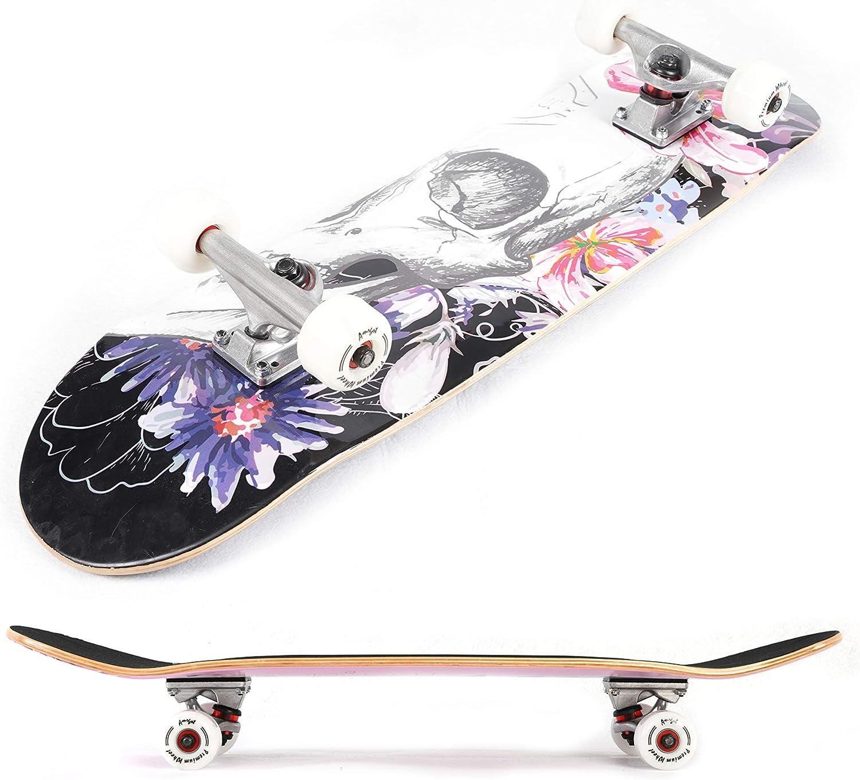 DANSD Skateboard Professionnel d/ébutants Adultes gar/çons et Filles Enfants et Adolescents Adulte Brosse Rue /à Quatre Roues Fish Scooter Fish Board