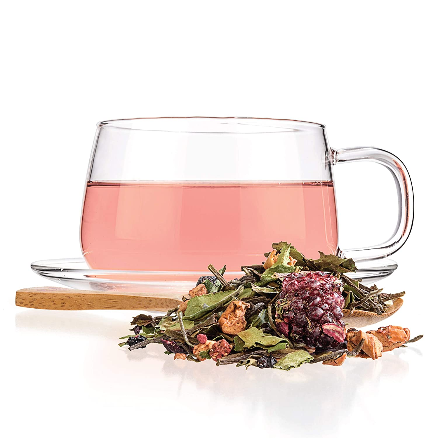 Tealyra - White Garden Bouquet - Fruity White Loose Leaf Tea Blend - Hibiscus - Strawberry - Raspberry