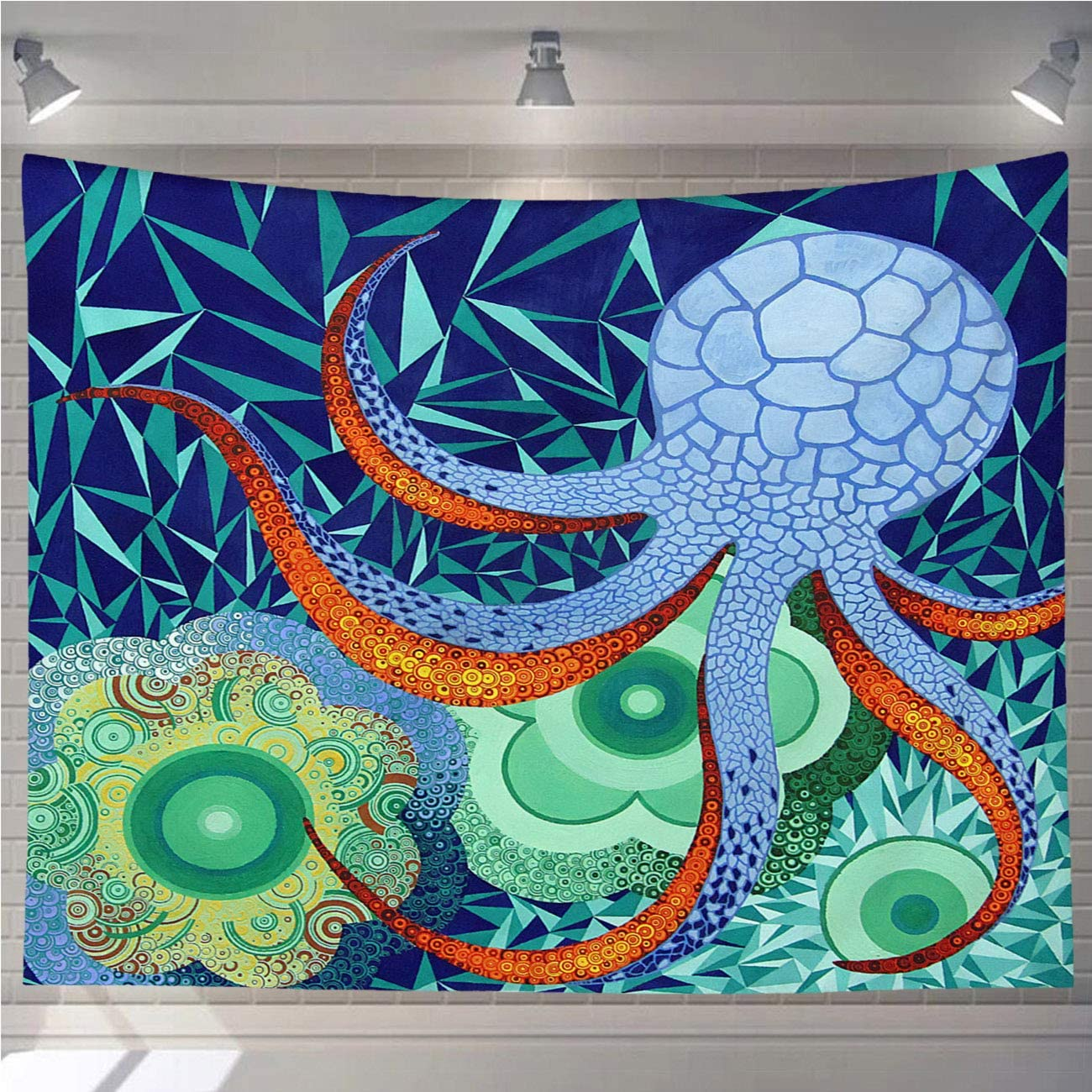 OTTOSUN Octopus Tapestry Wall Hanging,Abstract Octopus Garden,Nature Home Decorations for Living Room Bedroom Dining Room Dorm,80x60 in