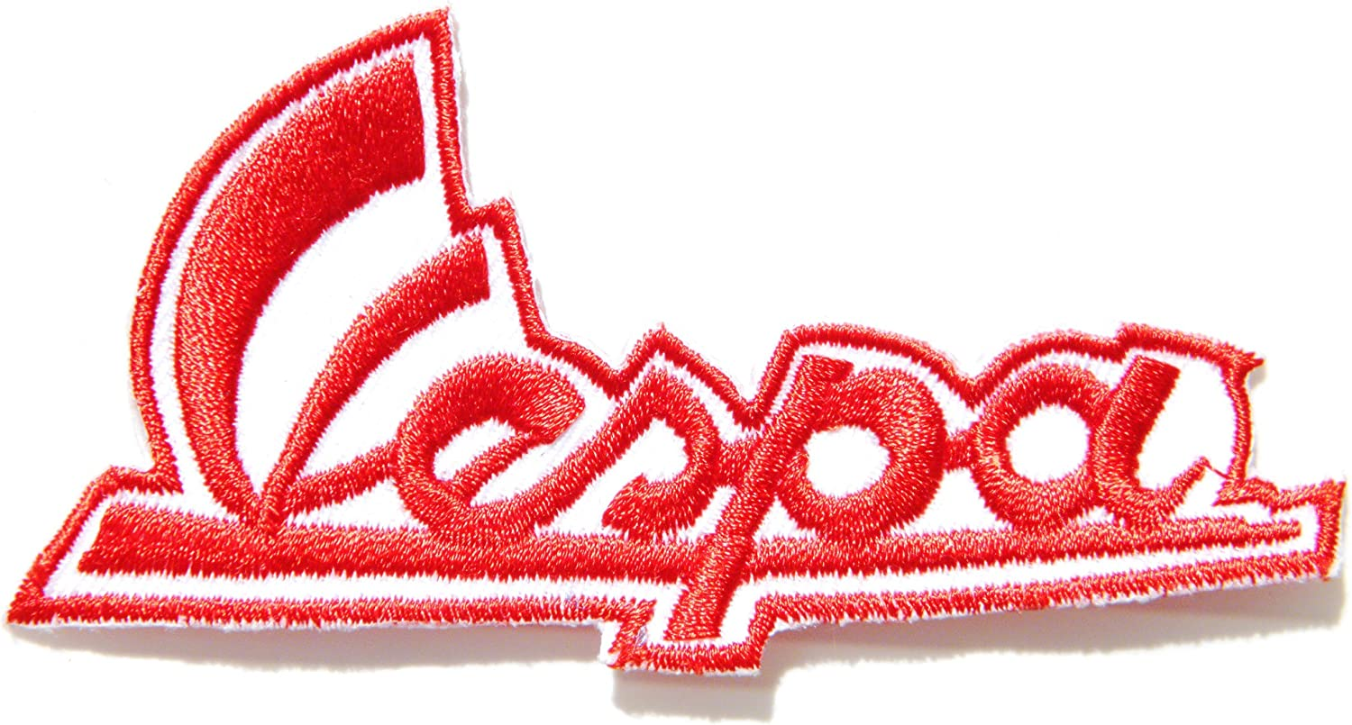 Embroidered Iron or Sew On Lambretta Wings RED Patch