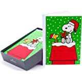 Hallmark Holiday Boxed Cards (Snoopy and Woodstock, 16 Christmas Greeting Cards and 17 Envelopes)
