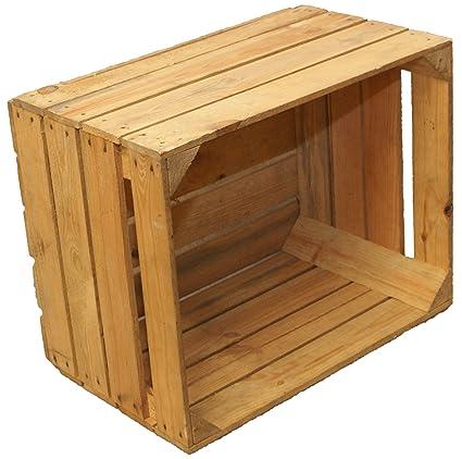 sólido Caja de madera Caja de fruta Caja de vino Cajón de manzana +Usado Shabby