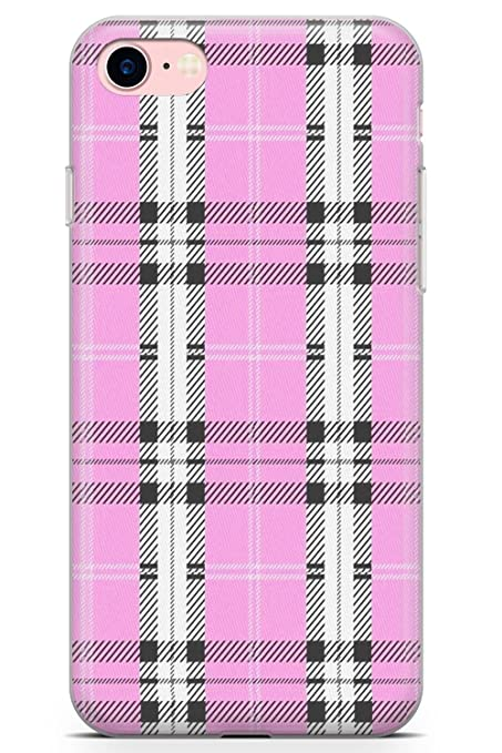 premium selection 81b7a e2078 Case Warehouse iPhone 8 Case, Designer Pink Plaid Phone Case Ultra Thin  Lightweight Gel Silicon TPU Protective Cover | Fashion Tartan Checkered ...
