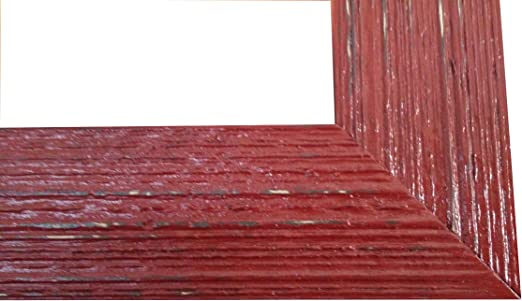 Amazon.com - Wooden Rustic Picture Frame (11x14, Red) -