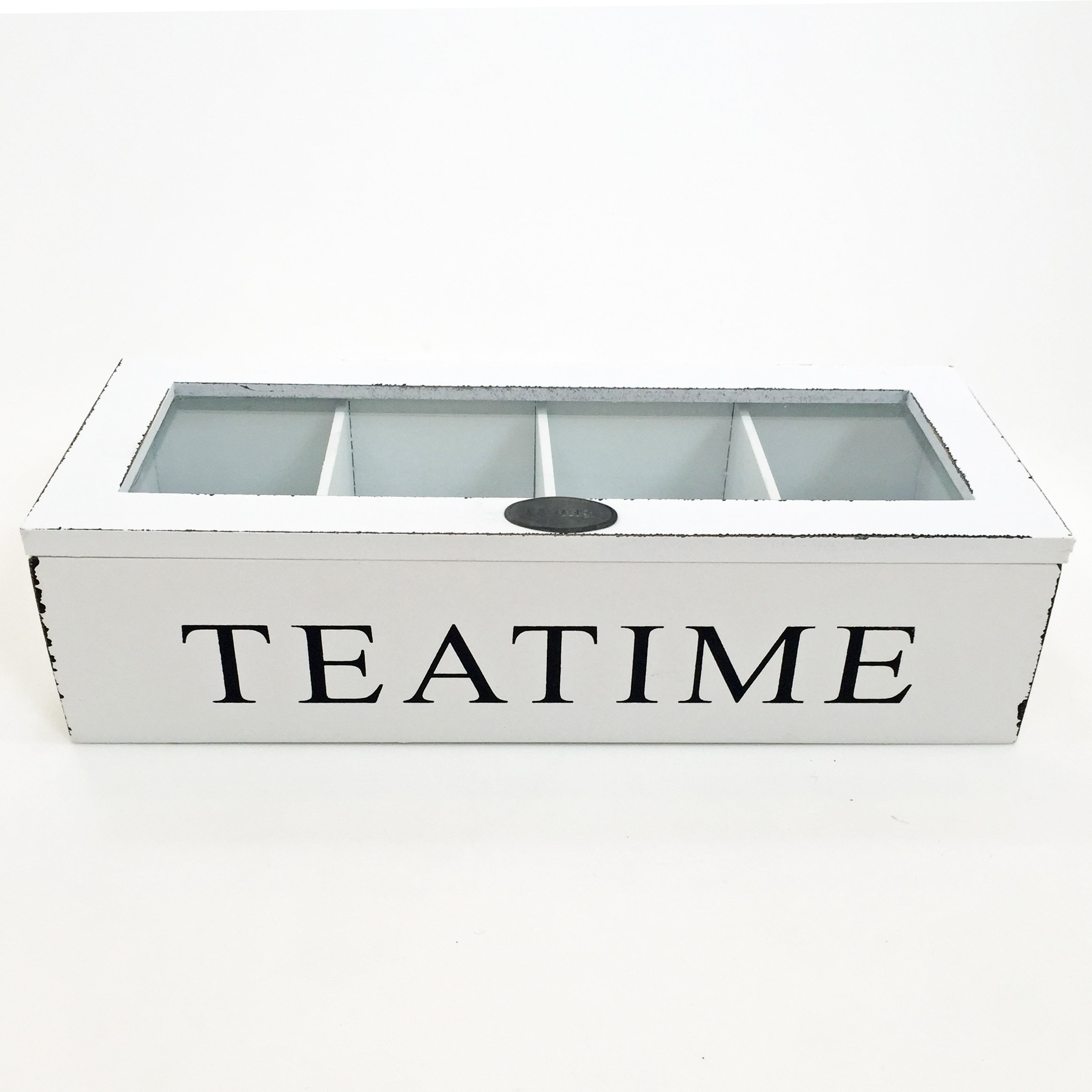 The Tea Time Chest Wood in White, approx. 10 5/8 x 4 3/8 x 2 ¾'', By Whole House Worlds