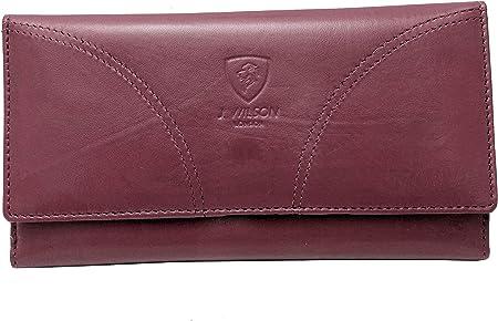 UK RFID Blocking Ladies Designer Quality Soft Sheep Leather Purse Wallet Black