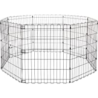 AmazonBasics Foldable Metal Pet Exercise and Playpen, 30""