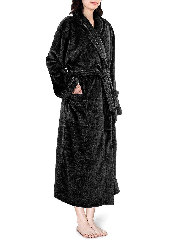 a72d2d79995 Premium Women Fleece Robe with Satin Trim