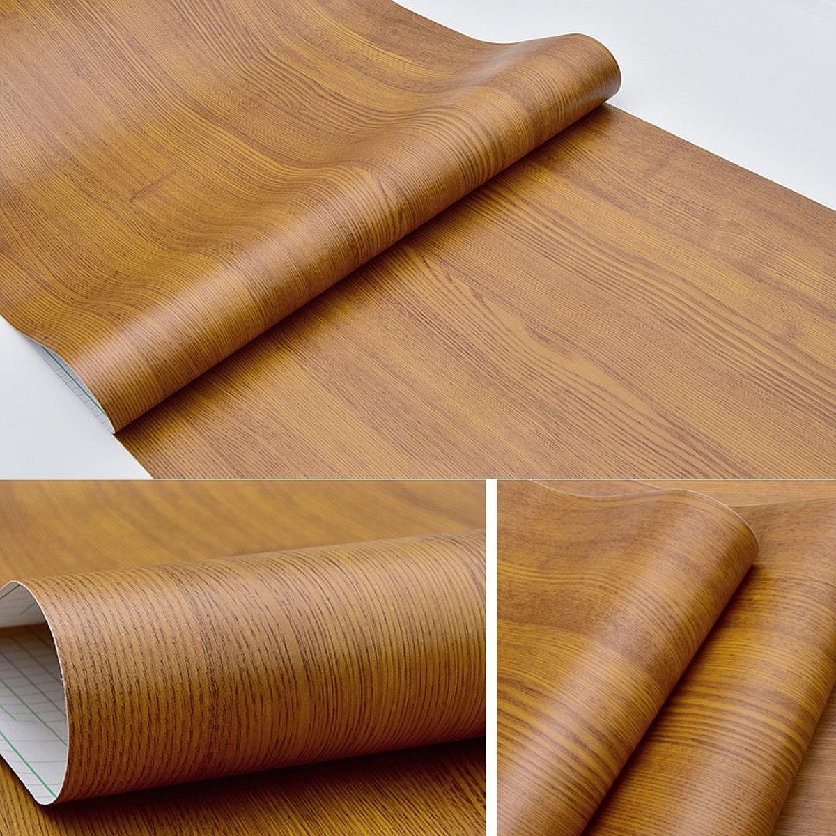 Autocollant imitation Grain de bois rustique Contact papier pour armoires de cuisine étagères tiroir Armoires Table Desk Arts and Crafts Autocollant 61x 297,2cm