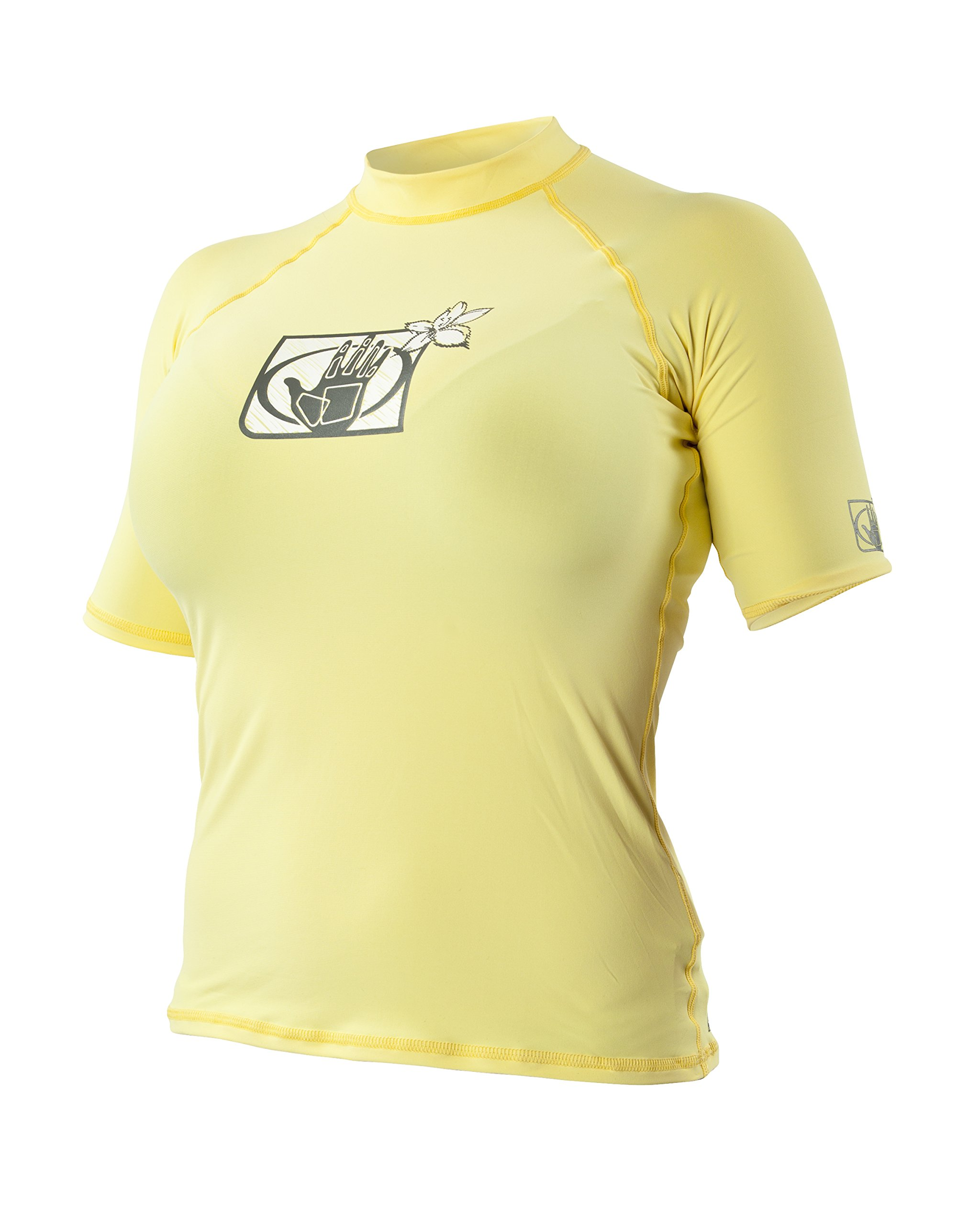Body Glove Women's Basic Fitted Short Sleeve Rash Guard Tops, Butter, Small by Body Glove
