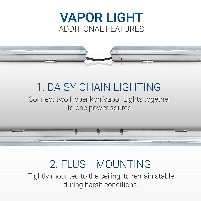 Clear Cover 70W Vapor Tight Light Fixture 150 Watt Hyperikon LED Vapor Proof Light 4 Pack IP65 4000k Daylight