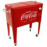 Leigh Country CP 98105 60 Qt Coca-Cola Ice Cold (Embossed) Cooler, Red
