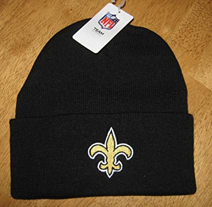 696f0b7d759 Image Unavailable. Image not available for. Color  New Orleans Saints Beanie  Knit Hat ...
