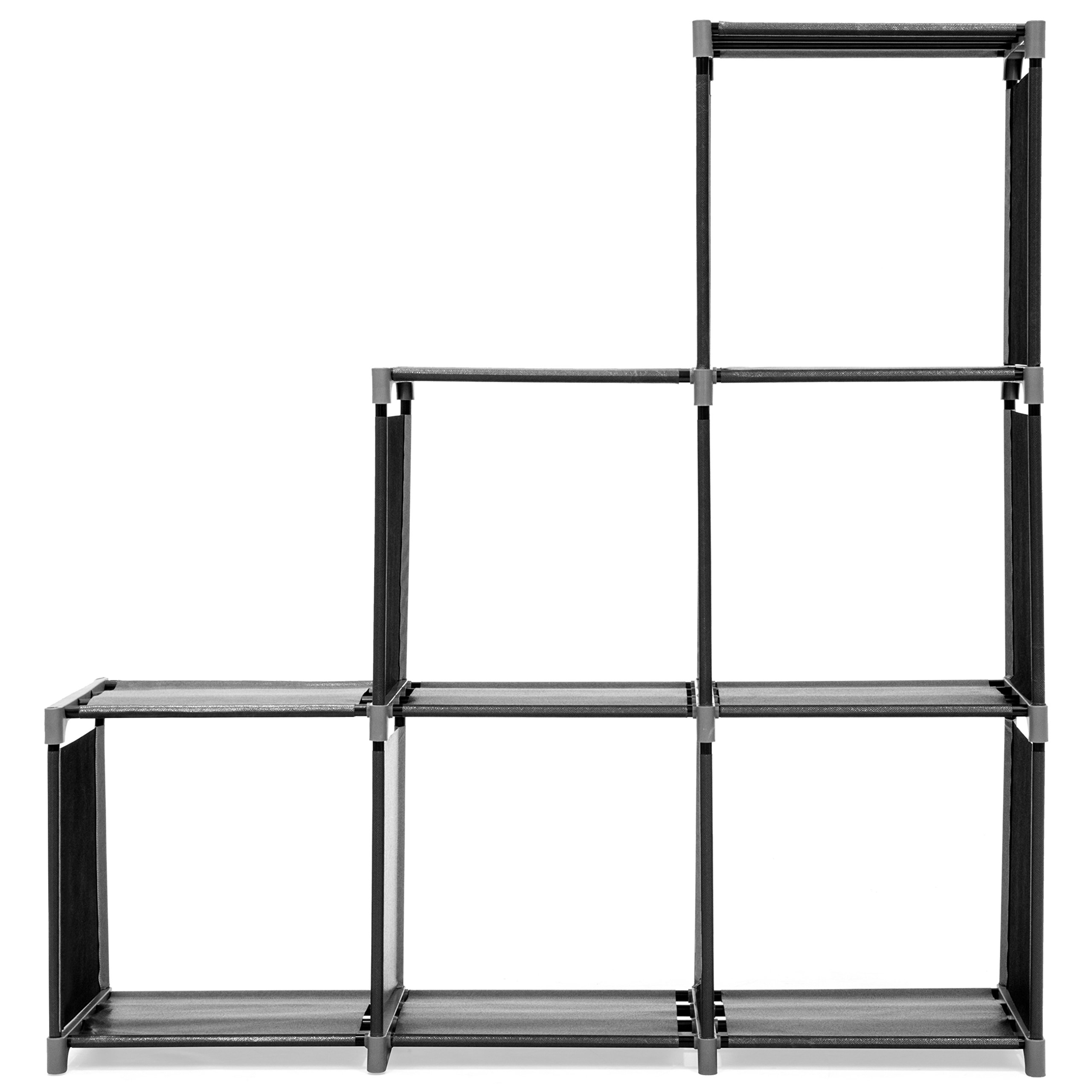 Best Choice Products 6-Drawer Multi-Purpose Shelving Cubby Storage Cabinet (Black) by Best Choice Products (Image #3)