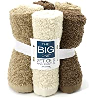 6-Pack The Big One Solid Washcloths (Linen)