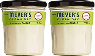 product image for Mrs. Meyer's Clean Day Scented Soy Aromatherapy Candle, 35 Hour Burn Time, Made with Soy Wax, Lemon Verbena, 7.2 oz, 2 Count