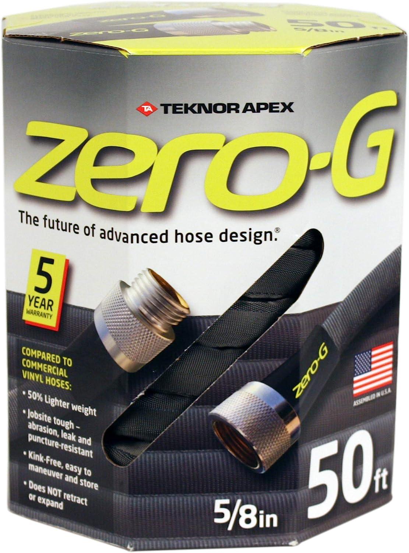 "zero-G 4001-50 Lightweight, Ultra Flexible, Durable, Kink-Free Garden Hose, 5/8-Inch by 50-Feet (5/8"" x 50', 4-Pack)"