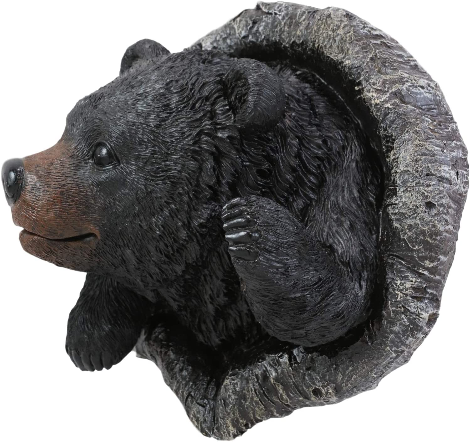 Amazon Com Ebros Gift 9 Tall Western Hello Black Bear Waving Paw Tree Bark Or Wall Hanging Decor Plaque Southwest Rustic Country Bears Vintage Decorative Accent For Walls Or Trees Everything Else