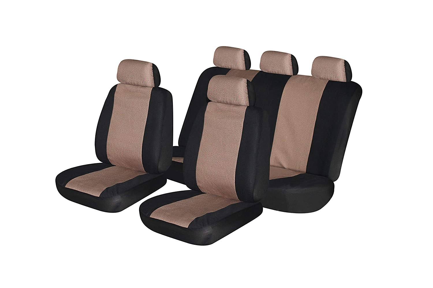 flatcloth Blue, Full Set Fit Most Car,Truck, SUV, or Van with headrest Airbag Compatible AUTONISE Universal fit Classic Sport Bucket seat Cover
