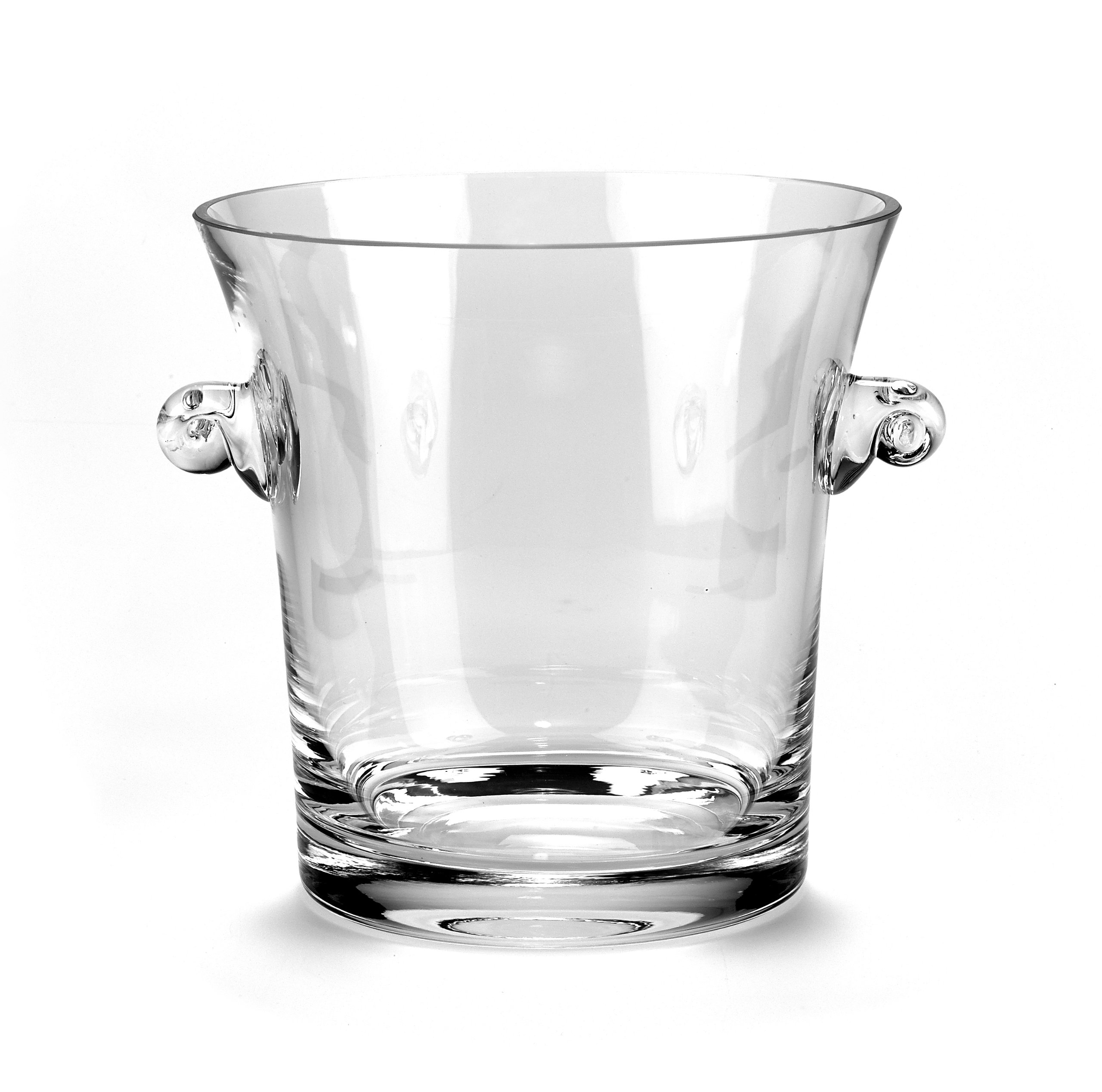''The Manhattan'' Style Wine and Champagne Chiller Bucket (1.5 L) - Lead-Free Crystal Elegantly Handcrafted w/Handles - Hand Blown Fine Polish Crystal - for Parties, Weddings, and Engagements by Badash (Image #1)