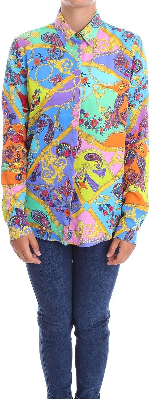 Versace B0HZA614 S0827 - Camisa de mujer fantasía 40: Amazon ...