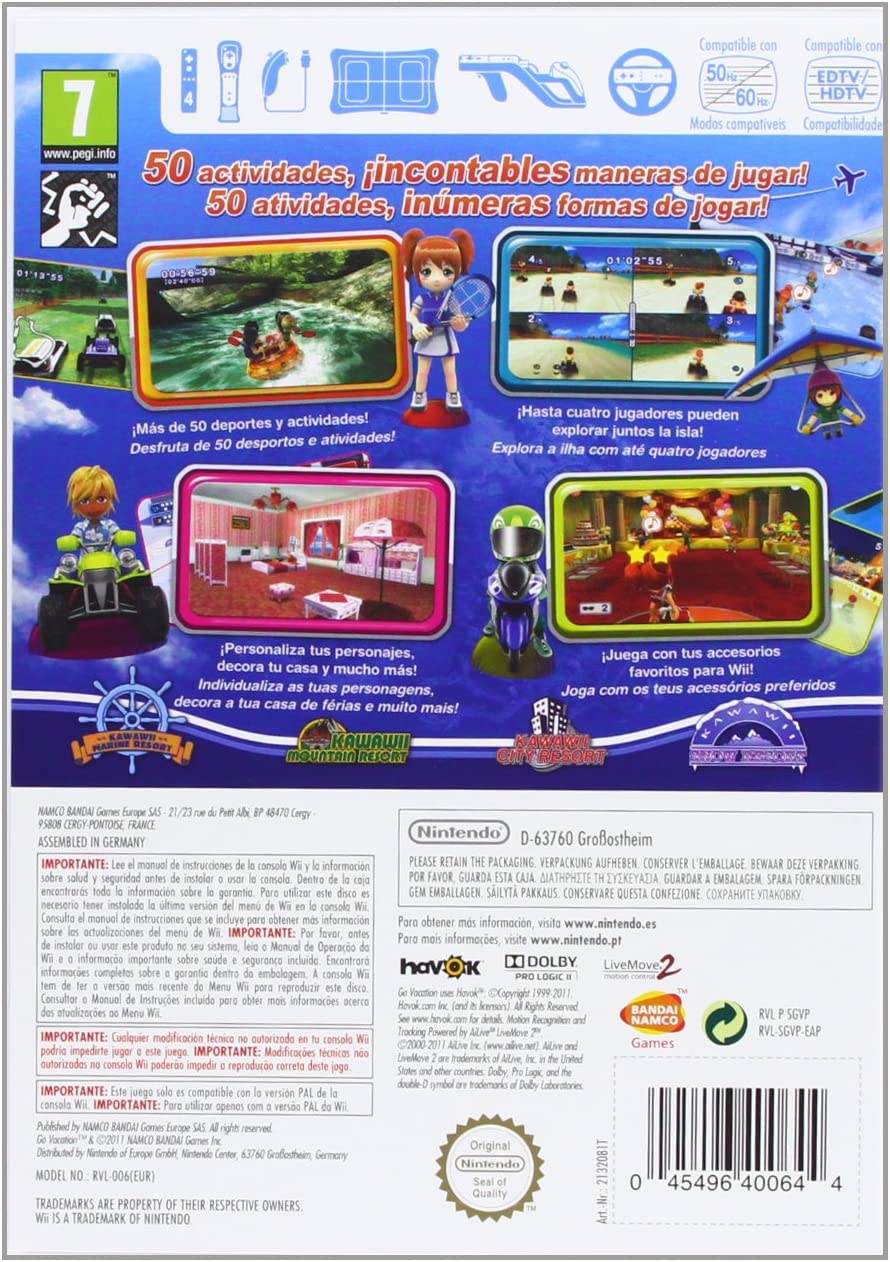 Wii Go Vacation: Amazon.es: Videojuegos