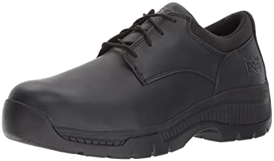 Timberland PRO Men's Valor Duty Soft Toe Oxford Military and Tactical Boot,  Black Smooth Leather