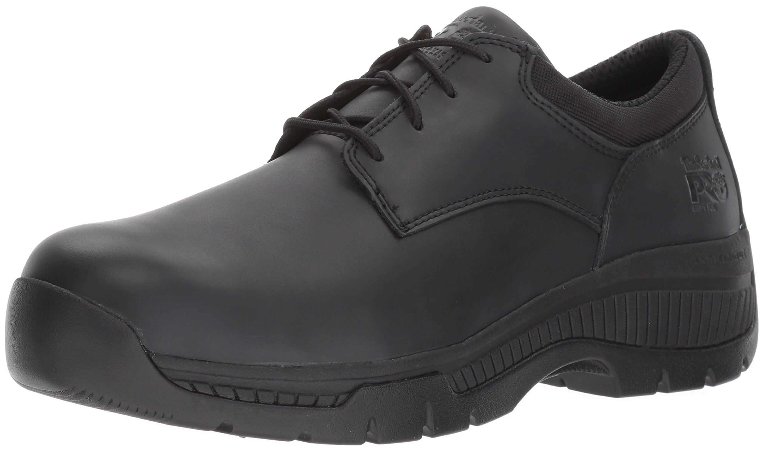 Timberland PRO Men's Valor Duty Soft Toe Oxford Military Tactical Boot, Black Smooth Leather, 13 M US