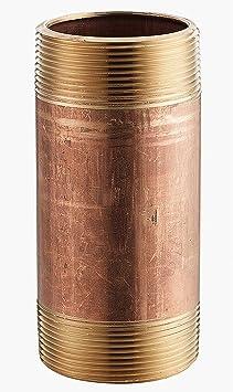 1 x 5 MNPT Threaded Red Brass Pipe Nipple