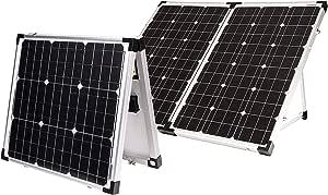 Go Power! GP-PSK-130 130W Portable Folding Solar Kit with 10 Amp Solar Controller