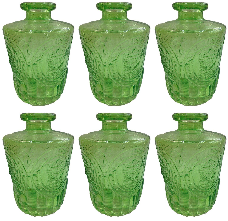 Botiquín Decorar vasos de botella Cristal 3 o 6 unidades corcho Cristal corcho Botella Botella de Licor farmacia Cristal Vintage Cristal, vidrio, verde, ...