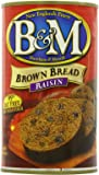B&M Brown Bread, Raisin, 16 Ounce (Pack of 12)