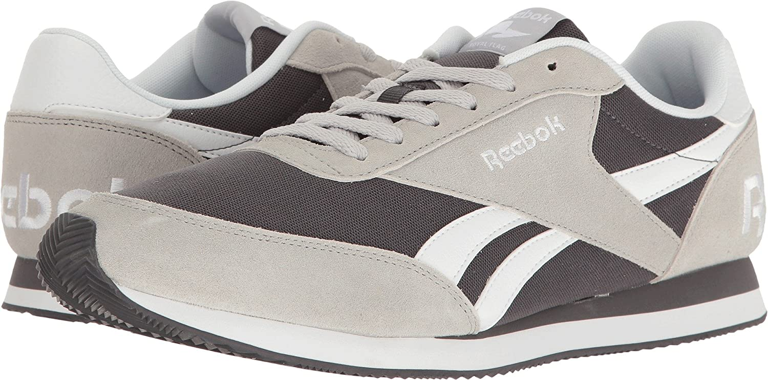 48cbbfb4f10 Reebok Men s Royal CL Jogger 2 RS Light Grey Heather Solid Grey Black White  Sneaker  Buy Online at Low Prices in India - Amazon.in