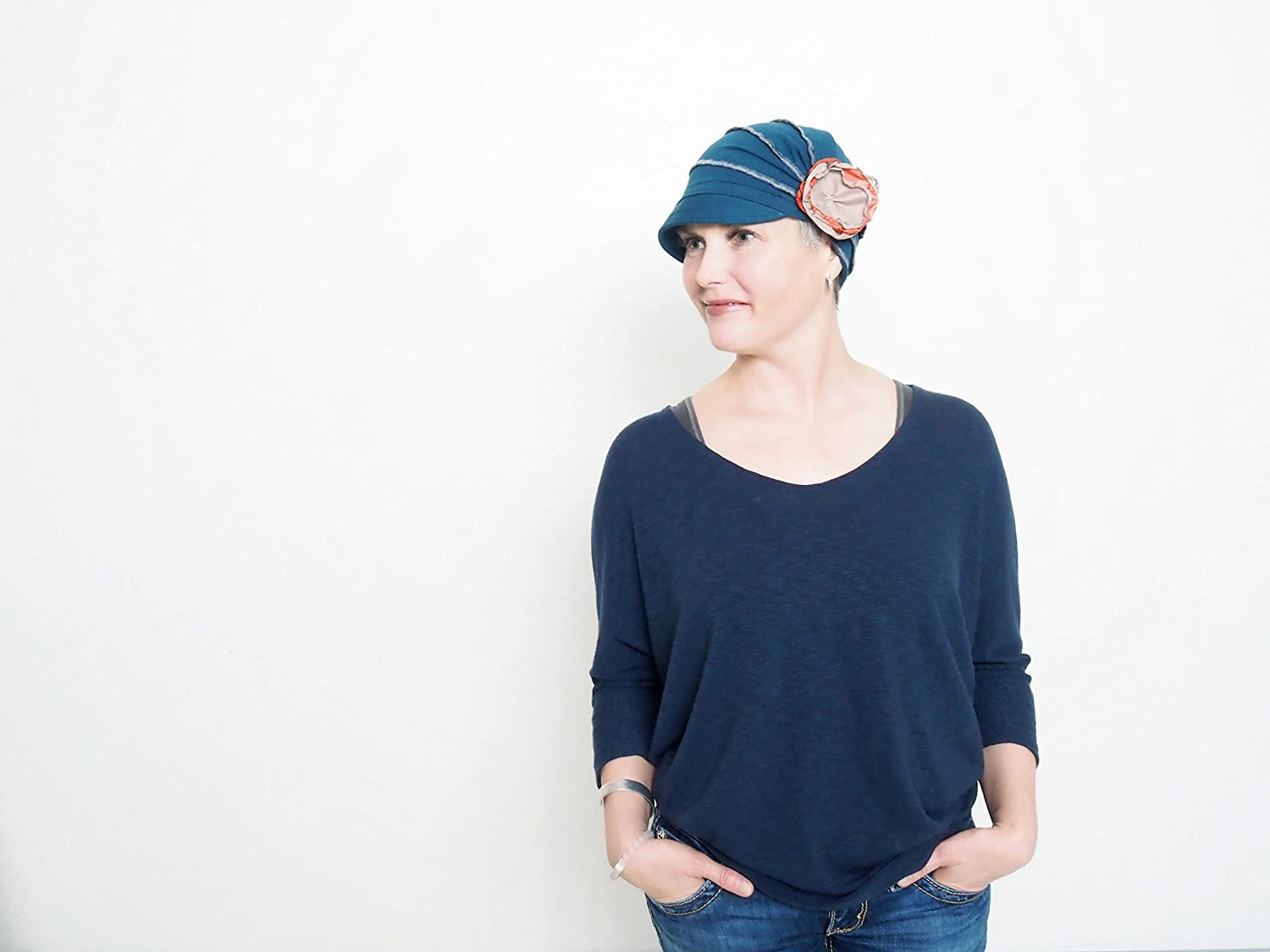Cancer Hat for Women Cozy Cap for girls Grey Chemo Beanie Women Fashion Hat Old Fashion Handmade by Muluk Cotton Chemo Hat