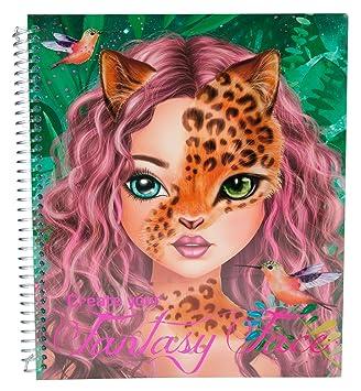 Topmodel Create Your Fantasy Face Livre A Colorier 6463
