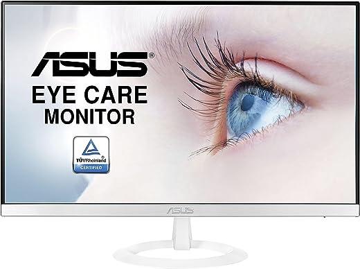 "ASUS VZ239HE-W 23"" Monitor, FHD, 1920 x 1080, IPS, Design Ultra-Slim, HDMI, D-Sub, Flicker Free, Filtro Luce Blu, Certificazione TUV, White"