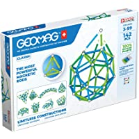 Geomag Classic - 142 Pieces- Magnetic Construction for Children - Green Collection - 100% Recycled Plastic Educational…