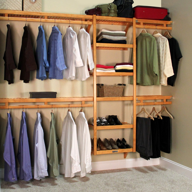 Amazon.com: John Louis Home JLH 522 Standard 12 Inch Depth Closet Shelving  System, Honey Maple: Home U0026 Kitchen