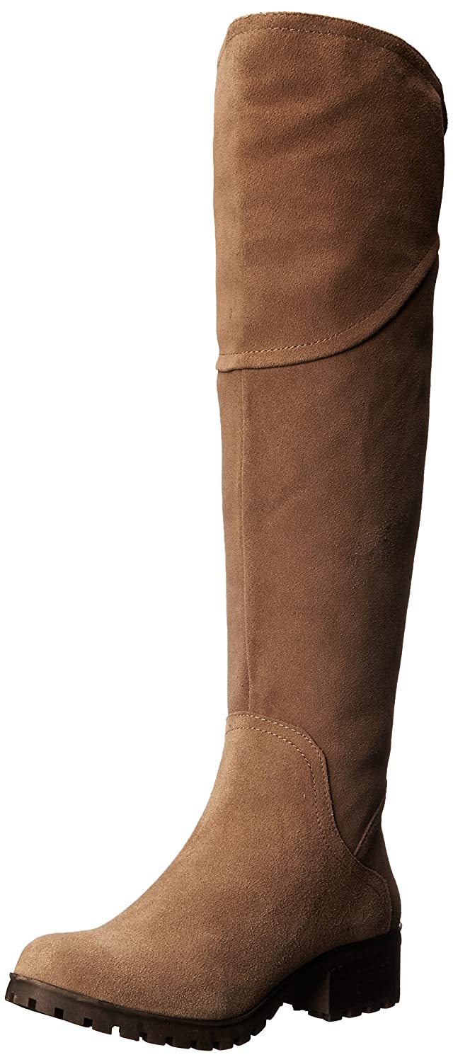 Lucky Brand Women's Harleen Riding Boot B00WLNEJJ2 5.5 M US|Sesame
