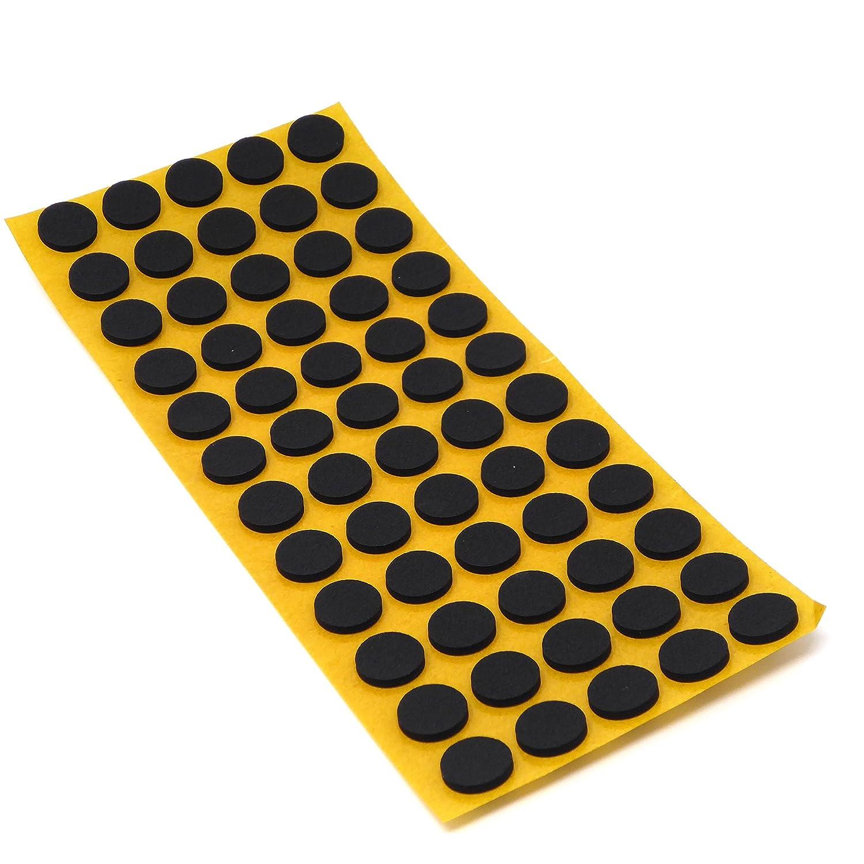 Adsamm Patins antid/érapants en caoutchouc/EPDM/// mousse caoutchouc noir 2,5/mm noir grande qualit/é autocollant