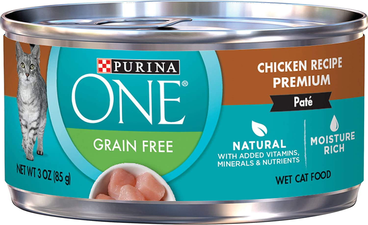 Purina ONE Natural Adult Canned Wet Cat Food - (24) 3 oz. Cans