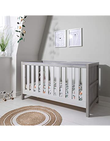 Tutti Bambini Modena Nursery Cot Bed - Converts into a Junior and Sofa Bed - Grey Ash & White