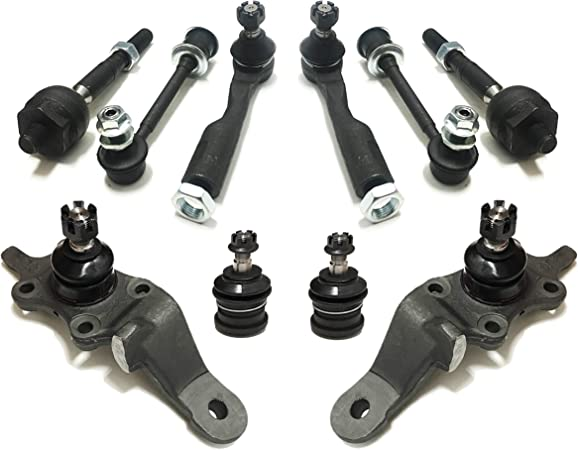 4 Pieces Inner Outer Tie Rod End Passenger Driver Side Steering Kit