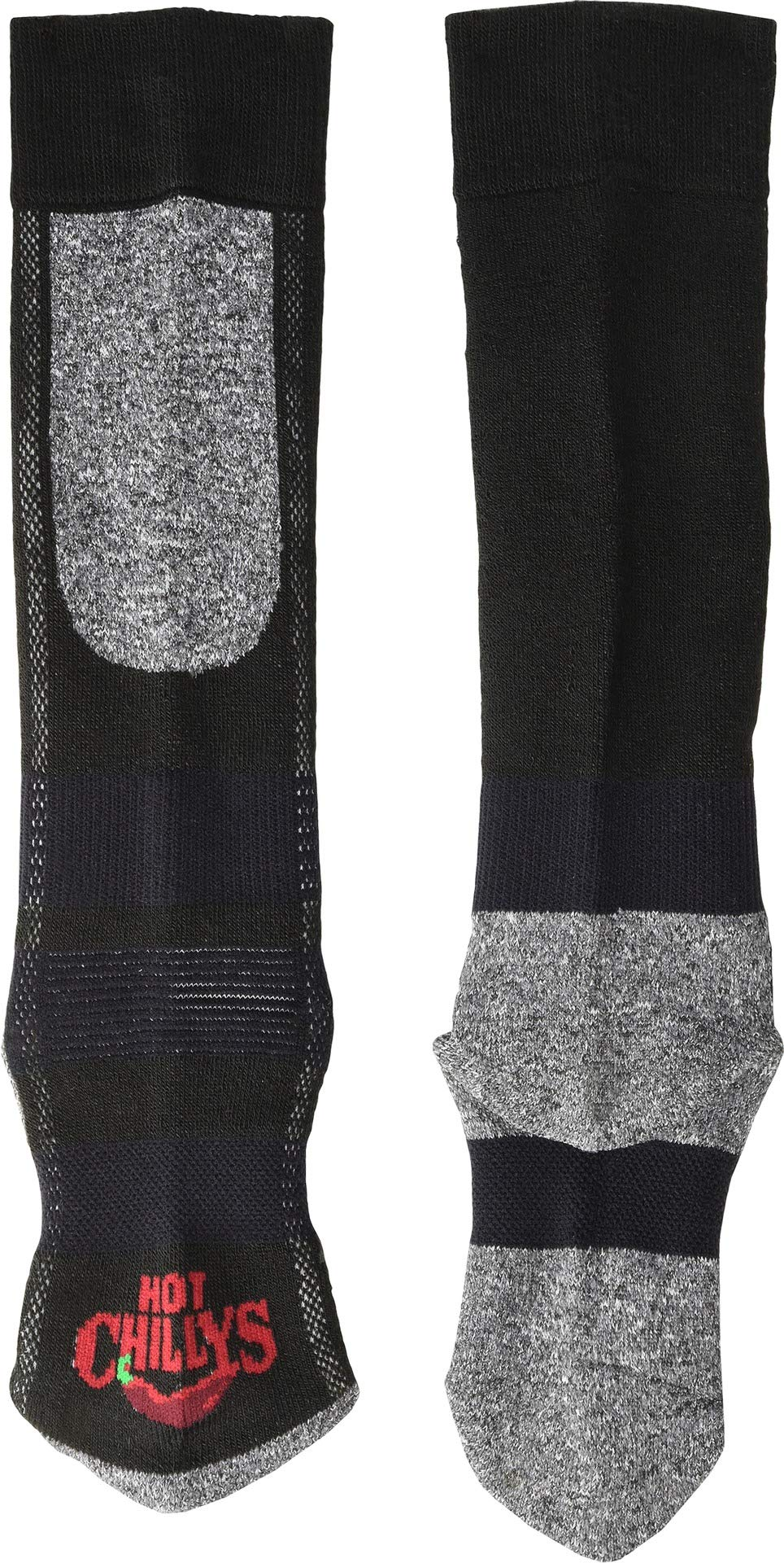 Hot Chillys Youth Assorted Mid Volume Sock (Black/Heather, Small) by Hot Chillys