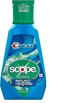 Crest Scope 33.8 Fluid Ounce Outlast Mouthwash