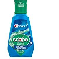 Crest Scope Outlast Mouthwash for Fresh Breath, Peppermint, 1 Litre